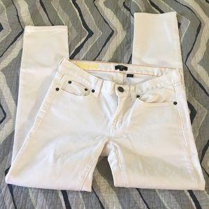 J. Crew toothpick white skinny jeans Size 26